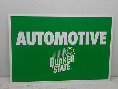 Quaker State Oil  (Automotive) Sign - Metal - 1 Sided 24x16