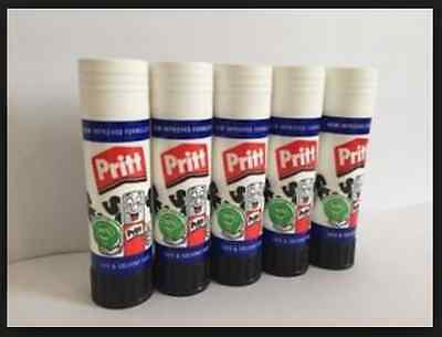 Pritt Stick Safe + Solvent Free Glue Stick 43g Pack of 5 - freepost