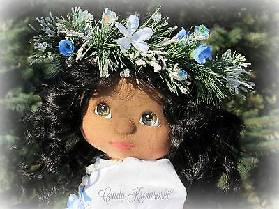 Gorgeous Custom OOAK AA My Child Doll-with Sewn-in Black Wavy Mohair Hair