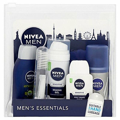 Men's Essential Nivea Male Travel Set Suitable for Hand Luggage Gift Pack