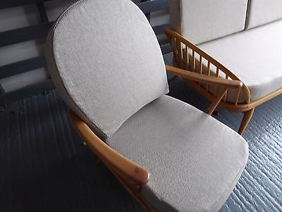 Seat Cushion & Cover Only. Ercol 203/252 Chair. Beige Weave (2)