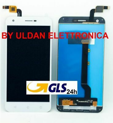 TOUCH SCREEN VETRO + LCD DISPLAY Alcatel Vodafone Smart ultra 6 VF-995N Bianco