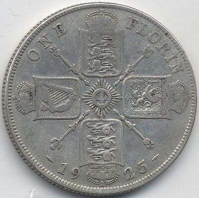 1925 George V Silver Florin***Collectors***Key Date***