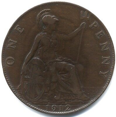 1912'H' George V One Penny***High Grade***Key Date***Collectors***