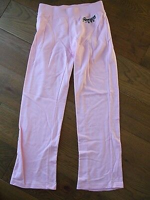 Pineapple By Debbie Moore Pink Girls Jogging Tracksuit Bottoms Age 13 VGC