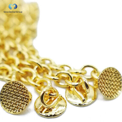 50 PCS Dental Orthodontic Golden Eruption Appliance with Round Traction Chain