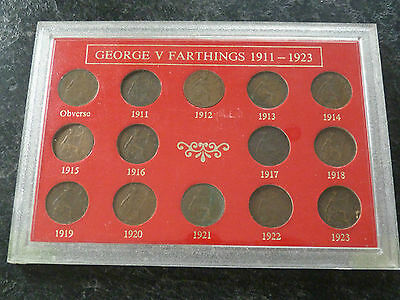 GEORGE V Farthing set for the Years 1911 to 1923