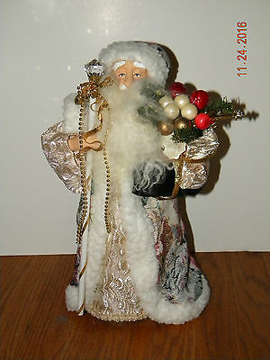 "Father Christmas 15"" Tree Topper, New w/o Tags"