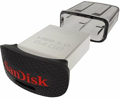 SanDisk Ultra Fit - Memoria flash USB 3.0 130 MB/s de 16 GB, 32GB, 64GB, 128GB