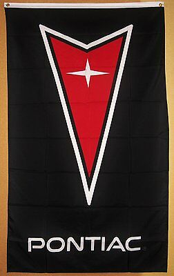 Pontiac Vertical 5' X 3' Flag Indoor Outdoor Automotive Banner