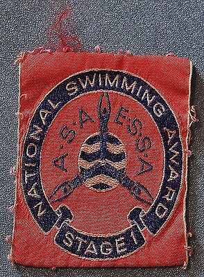 National Swimming Award Stage 1 patch