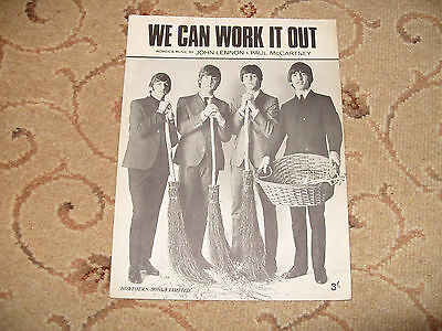 """Sheet Music. """" We Can Work It Out """". By The Beatles."""