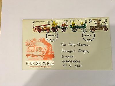 Gb 1974 Fire Service First Day Cover