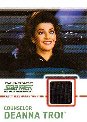 2005 QUOTABLE STAR TREK TNG - C4 COSTUME Counselor Deanna Troi
