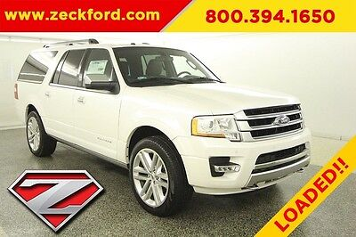 2017 Ford Expedition EL 4x4 Platinum 3.5L V6  Turbo Automatic 4WD Premium Moonroof Navigation Leather Reverse Camera