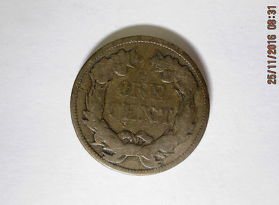 1857 USA Flying Eagle 1c One Cent Coin
