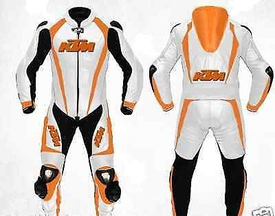 KTM Motorbike Motorcycle Racing 1&2 Piece Leather Suit Tailor Made.