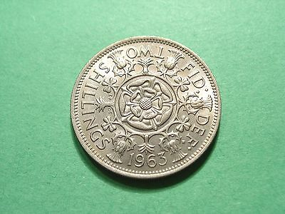 GREAT BRITAIN Florin, Two Shillings 1963 Brilliant Uncirculated