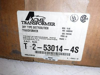 T-2-53014-4S ACME ELECTRIC Single Phase 60 Hz 240 X 480 Primary Volts