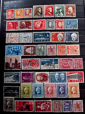Small used stamps collection of Norway.