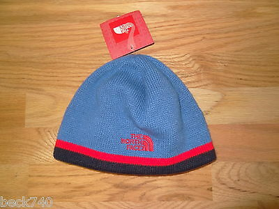 New Boys North Face Keen Beanie Hat Jake Blue Youth Medium NWT $20