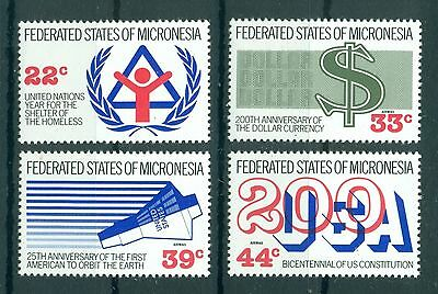 MICRONESIA *1987* compl.set 4 stamps *MNH** Mixed Issue - Mi.No 68-71