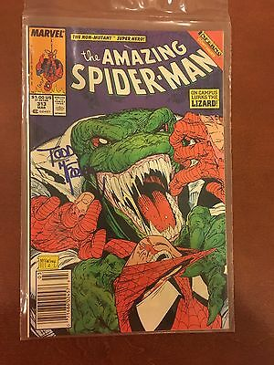 Amazing Spider-Man #313 SIGNED By TODD MCFARLANE Marvel