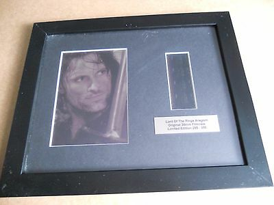 Lord of the Rings - Aragorn - Film Cell Framed Photo 285/350