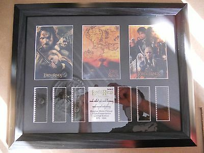 Lord of the Rings Series 2 Triple Presentation Framed Film Cell number 675/1000
