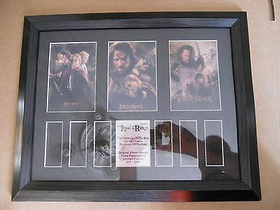 Lord of the Rings Series 4 Triple Presentation Framed Film Cell number 511/1000