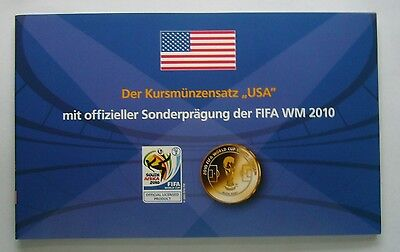 USA coin set (Various years) plus Official FIFA World Cup 2010 Medal