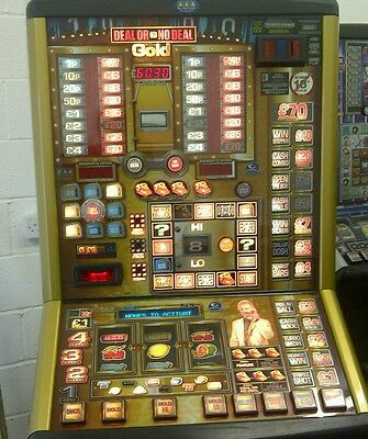 DEAL OR NO DEAL GOLD FRUIT MACHINE. £70 jackpot, note acceptor included.