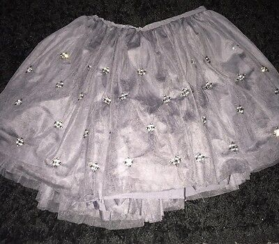 Girls Grey Skirt / Tutu M & S Autograph Beaded Bnwt Age 13 / 14 Years Party