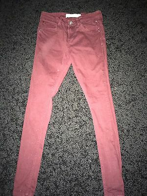 Girls Deep Red Skinny Jeans From Tammy Age 12 Years