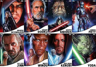 Topps Star Wars Card Trader Rise of the Empire WHITE VARIANT Set of 8 [BUNDLE]