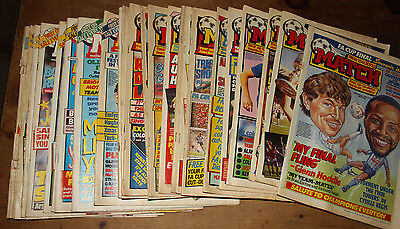 26 MATCH Football Magazines LOT all from 1987 1988