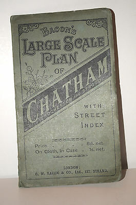 Vintage Map of Chatham, Rochester, Gillingham, Strood & New Brompton