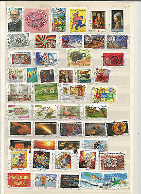 RECENT USED FRANCE STAMP COLLECTION 2000-2015 (180+ different)