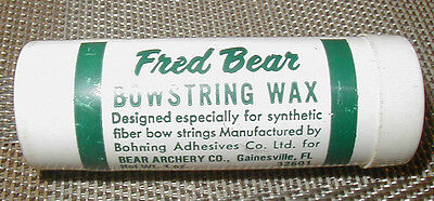 Vintage Fred Bear Bow String Wax 1 oz Stick Nearly Full
