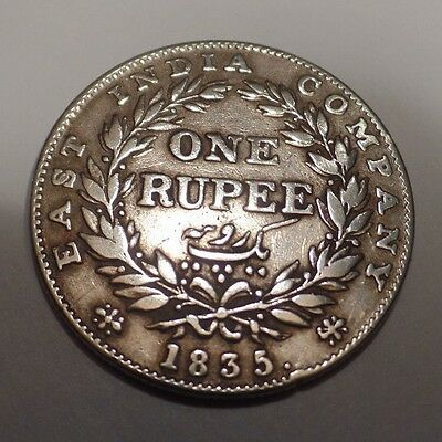 1835 King William East India Company IV Silver One Rupee