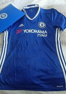 Chelsea Fc Home Shirt  Hand Signed By Squad 2016/17 +Coa.