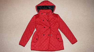 Beautiful Bluezoo (Debenhams) girls quilted winter coat, red, 8-9  y MINT