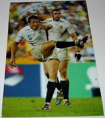 Jonny Wilkinson England Rugby 2003 World Cup Personally Hand Signed 12X8 Photo