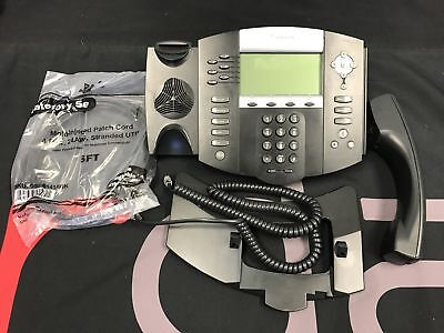 Polycom Ip 650 2201-12630-001 Sip Voip Business Phone W/ Handset + Cord