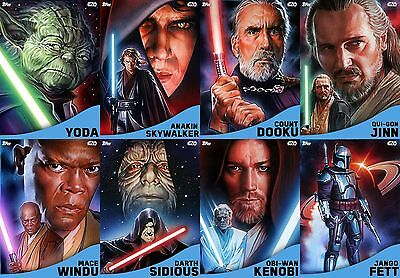 Topps Star Wars Card Trader Rise of the Empire BLUE VARIANT Set of 8 [BUNDLE]