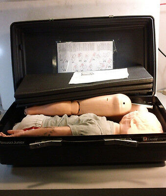 Laerdal Resusci Junior Child CPR Training Full Body EMT Used Tested Working
