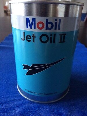 Mobil Jet Oil II Can Bank
