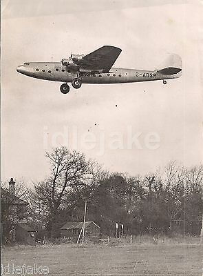 Imperial Airways Ensign G-ADSR Aircraft Press Release Photo 1938