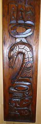 CANADIAN  Norhwest Coast CEDAR  WOOD CARVING by the Celebrated RAY WESLEY