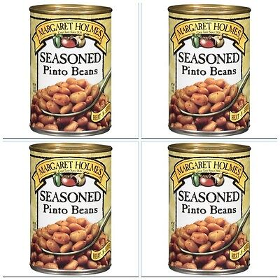 4 CANS MARGARET HOLMES SEASONED PINTO BEANS free cajun recipe great with ham!